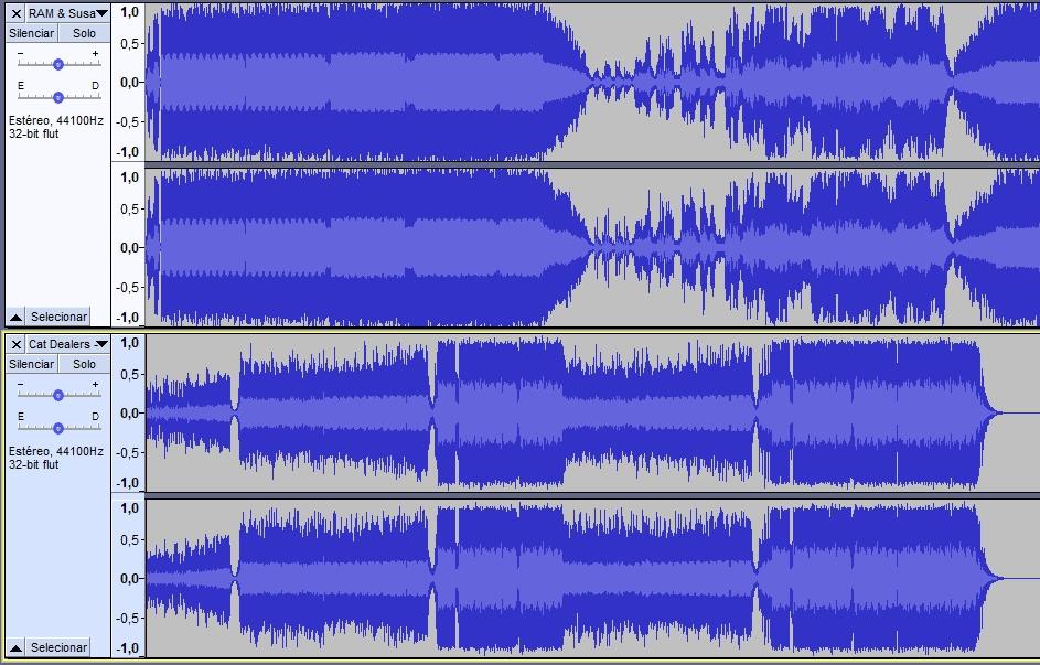 forma de onda sinal de áudio