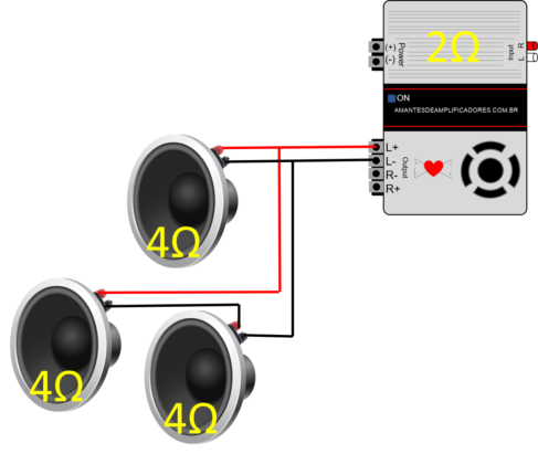 Como calcular impedância de ligação de alto-falante